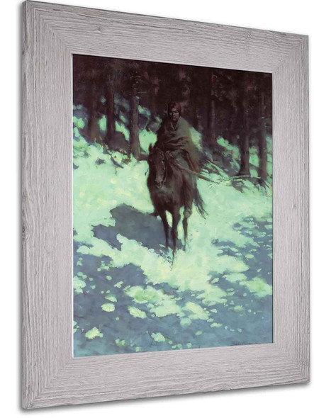 Figure Of The Night by Frederic Remington