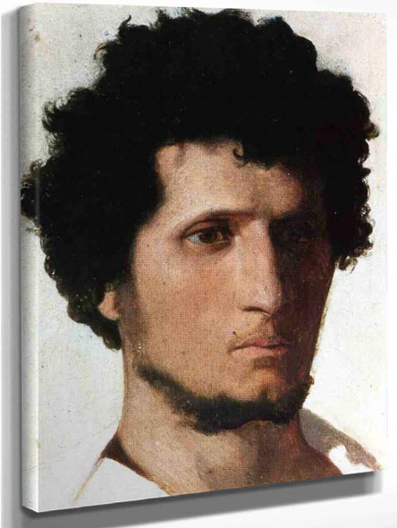 Head Of A Peasant From The Roman Campagne By Jean Leon Gerome