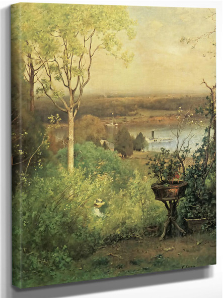 Overlooking The Hudson At Milton by George Inness