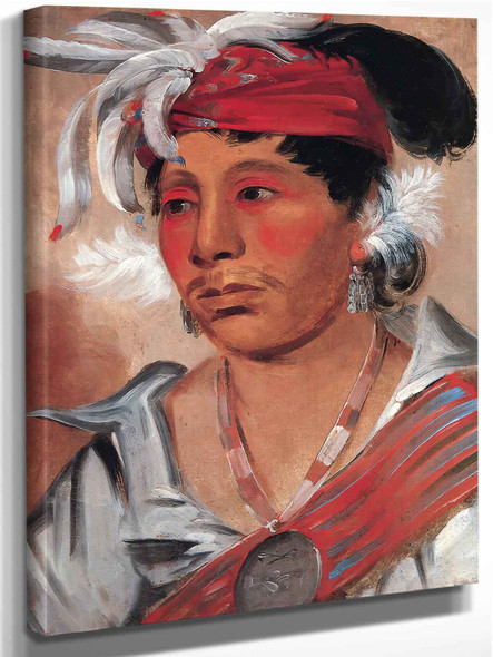 String,A Renowned Warrior by George Catlin