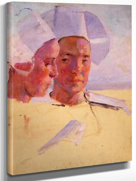 Study Of Two Breton Women by Cecelia Beaux