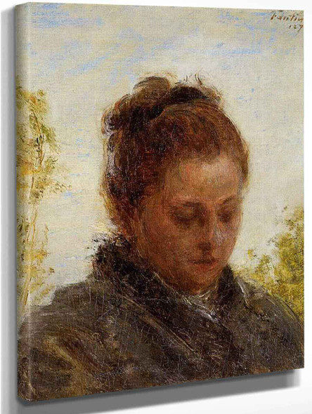Head Of A Young Woman By Henri Fantin Latour By Henri Fantin Latour