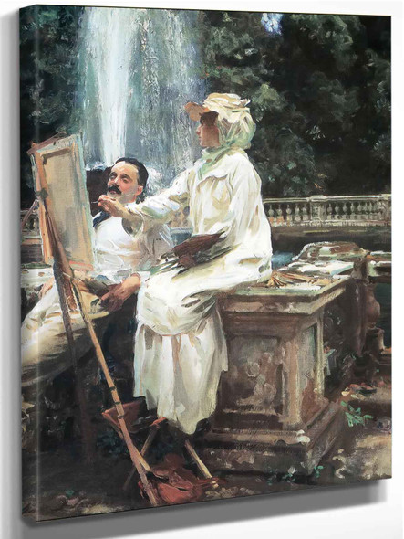 The Fountain, Villa Torlonia Frasati by John Singer Sargent