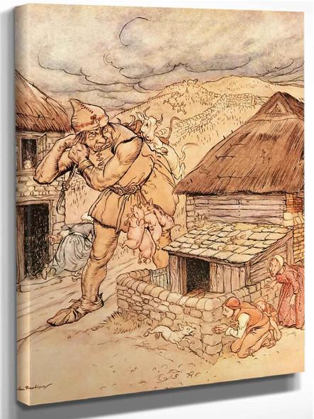 The Giant Cormoran by Arthur Rackham