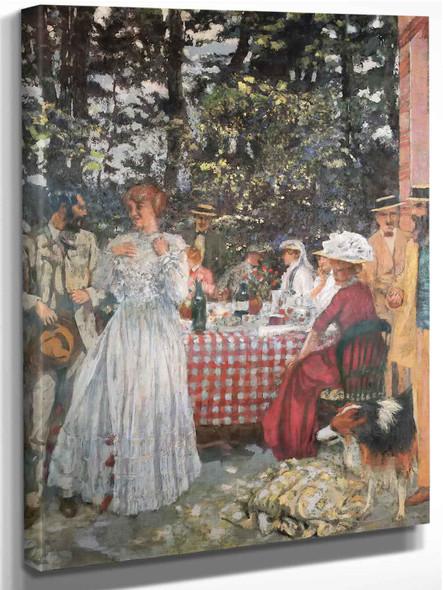 The Luncheon At Vasouy 1901 by Edouard Vuillard