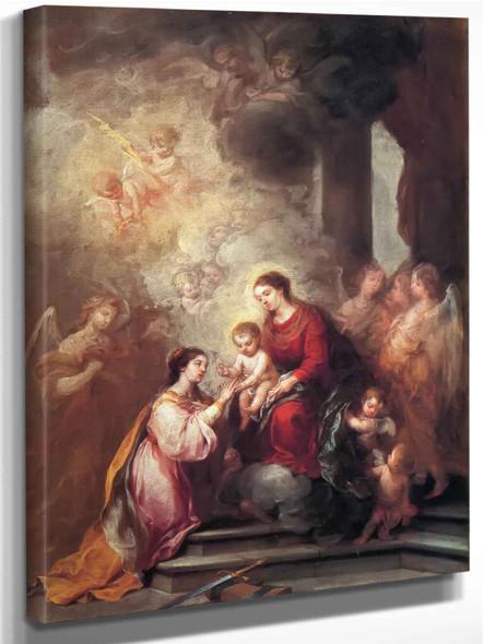 The Mystic Marriage Of Saint Catherine by Bartolome Esteban Murillo