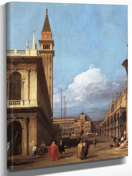 The Piazetta Looking North by Canaletto