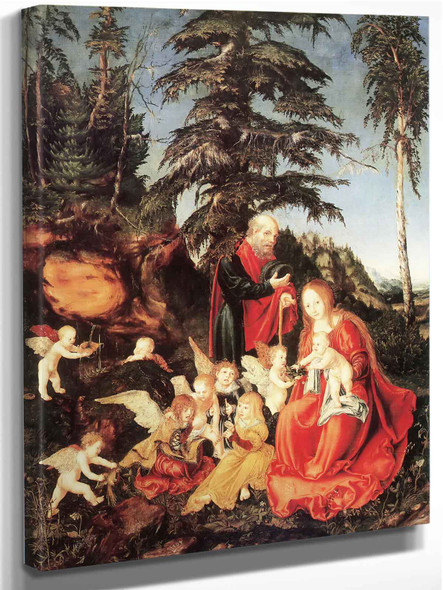 The Rest On The Flight Into Egypt by Hans Memling