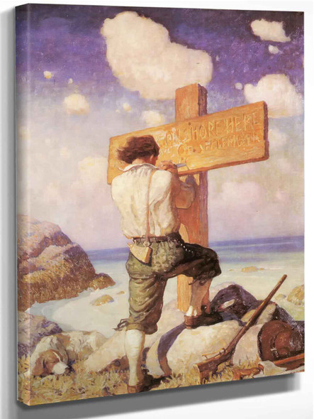 The Shore Where I Just Landed by Nc Wyeth