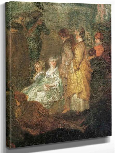 The Village Bride Detail by Antoine Watteau