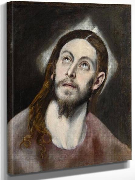 Head Of Christ By El Greco By El Greco