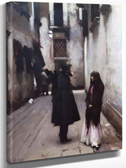 Venetian Street by John Singer Sargent
