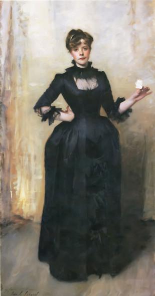 Lady With The Rose   Charlotte Louise Burckhardt John Singer Sargent