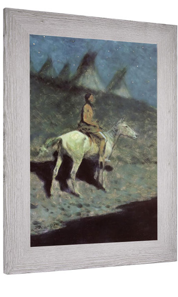 Indian In The Moonlight Frederic Remington