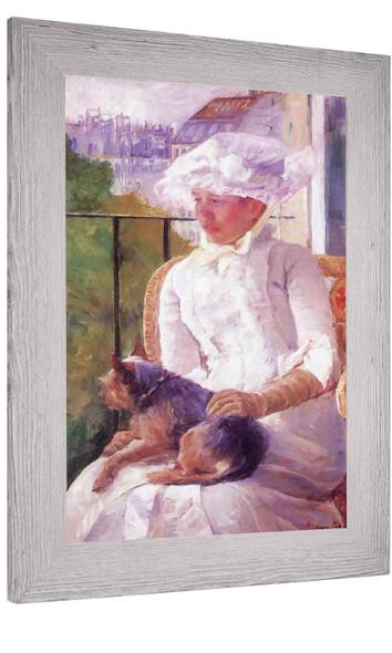Susan On A Balcony Holding A Dog Mary Cassatt