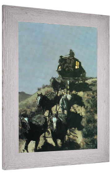 The Old Stagecoach Of The Plains Copy Frederic Remington
