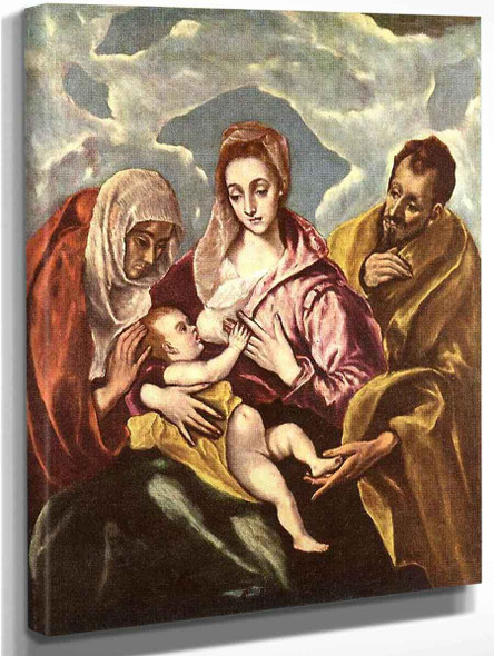 Holy Family With St Anne By El Greco By El Greco