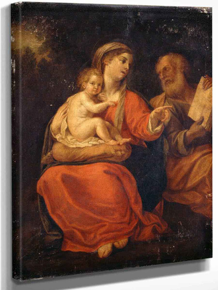 Holy Family By Francesco Albani By Francesco Albani