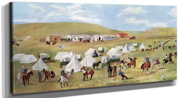 Cowboy Camp During The Roundup Charles Marion Russell