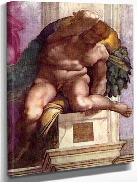 Ignudo 12 By Michelangelo Buonarroti By Michelangelo Buonarroti