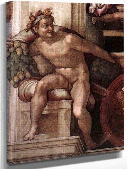 Ignudo 8 By Michelangelo Buonarroti By Michelangelo Buonarroti