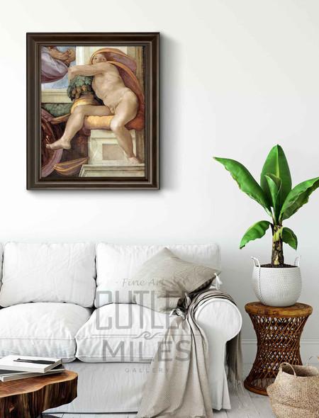Ignudo10 By Michelangelo Buonarroti By Michelangelo Buonarroti