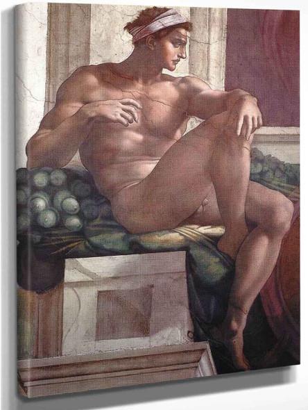 Ignudo15 By Michelangelo Buonarroti By Michelangelo Buonarroti