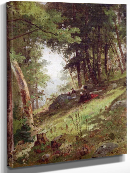 In The Birch Woods, Damariscotta, Maine By William Keith