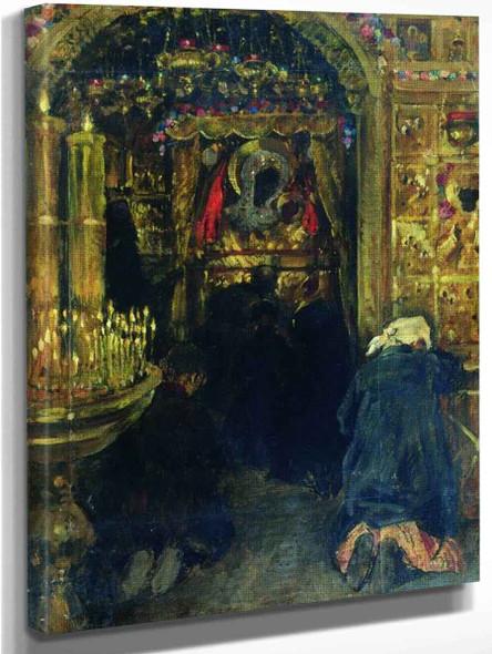 In The Church By Sergei Arsenevich Vinogradov Russian 1869 1938