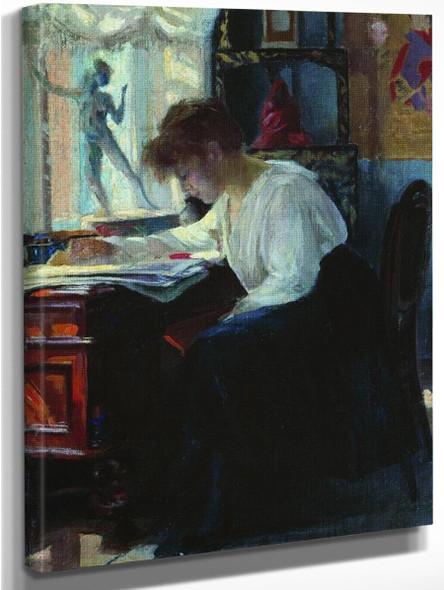 In The Studio By Sergei Arsenevich Vinogradov Russian 1869 1938