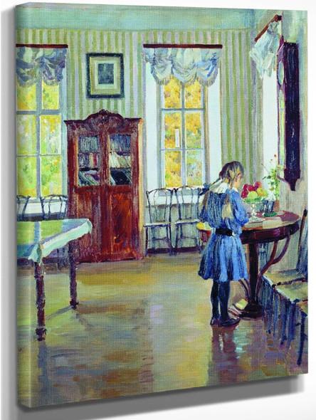 Interior 2 By Sergei Arsenevich Vinogradov Russian 1869 1938