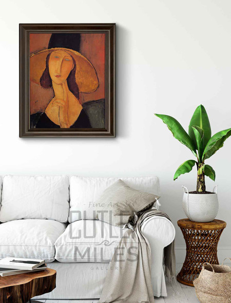 Jeanne Hebuterne In A Large Hat By Amedeo Modigliani