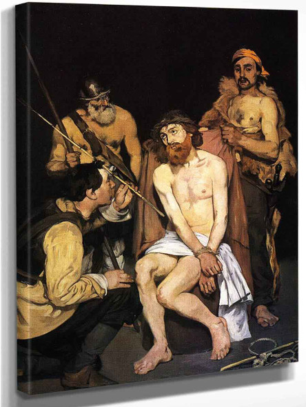 Jesus Mocked By The Soldiers By Edouard Manet By Edouard Manet