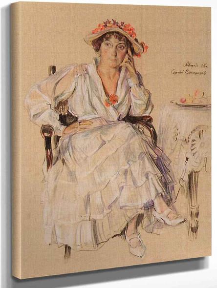 Lady In An Armchair By Sergei Arsenevich Vinogradov Russian 1869 1938