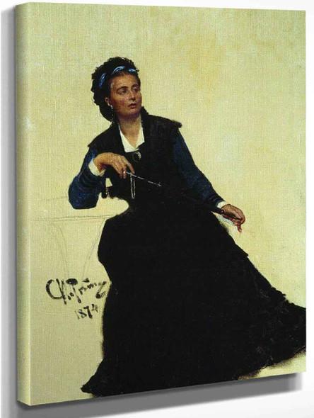 Lady In Black By Ilia Efimovich Repin