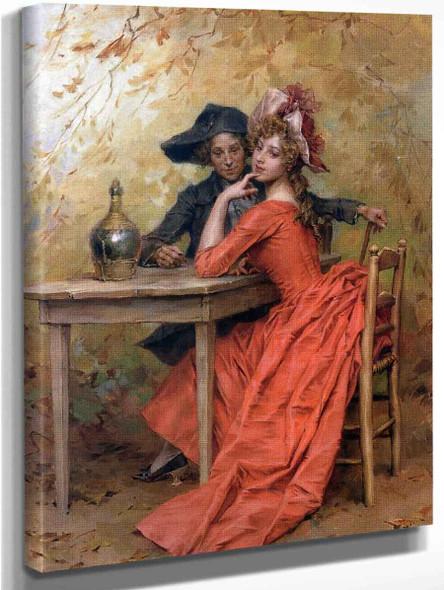 Lady In Red By Frederik Henrdik Kaemmerer