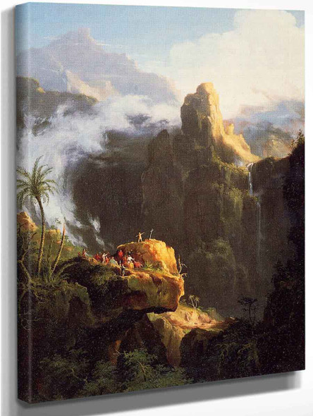 Landscape Composition St. John In The Wilderness By Thomas Cole By Thomas Cole