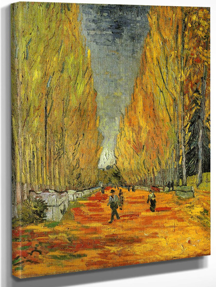 Les Alychamps2 By Vincent Van Gogh