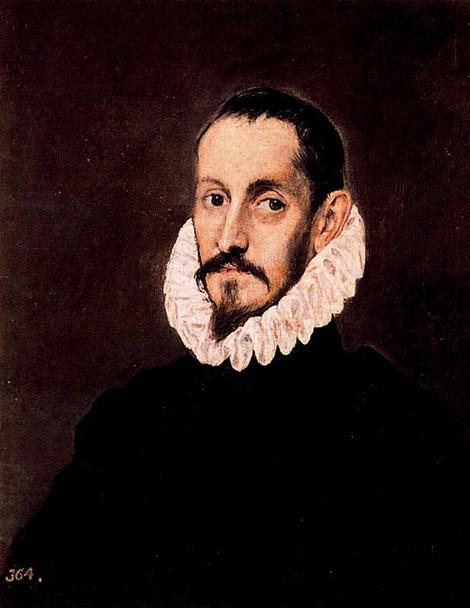Portrait Of A Gentleman By El Greco By El Greco