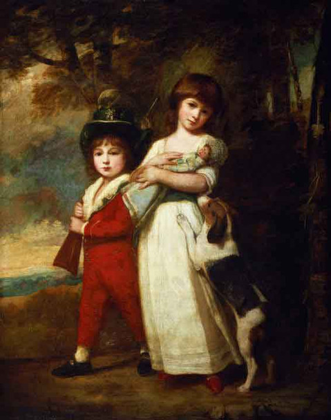 Portrait Of The Vernon Children By George Romney