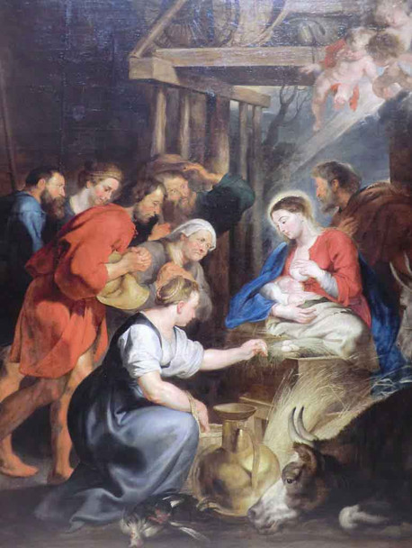 The Adoration Of The Shepherds By Peter Paul Rubens