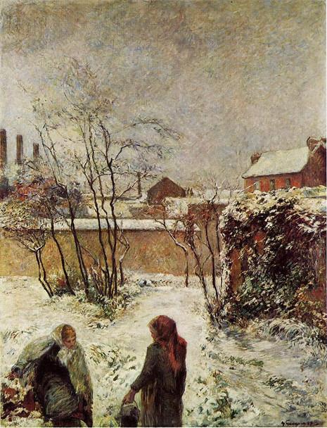 The Garden In Winter, Rue Carcel  By Paul Gauguin