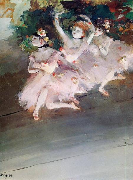 Three Ballet Dancers By Edgar Degas
