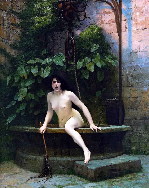 Truth Coming Out Of Her Well To Shame Mankind By Jean Leon Gerome