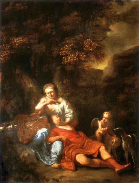 Venus And Adonis By Ferdinand Bol