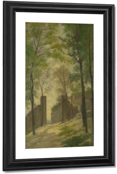 A Gateway Behind Trees By Stanislas Lepine