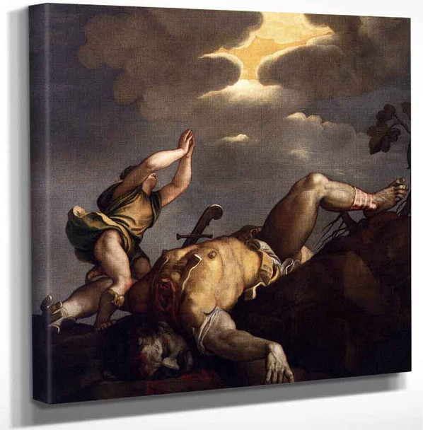 David And Goliath By Titian Art Reproduction