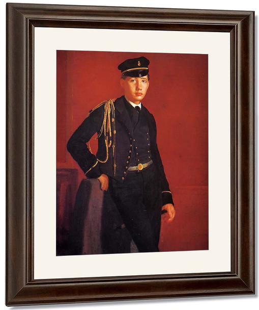 Achille De Gas In The Uniform Of A Cadet By Edgar Degas By Edgar Degas