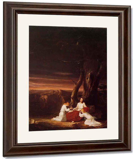 Angels Ministering To Christ In The Wilderness By Thomas Cole By Thomas Cole