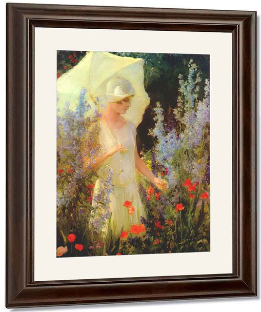 Blue Delphiniums By Charles Courtney Curran By Charles Courtney Curran